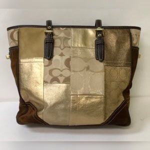 Coach Holiday Patchwork Large Tote bag